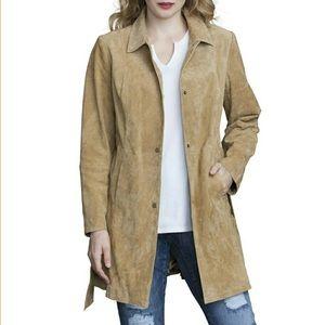 Genuine Leather Suede Coat